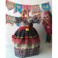Vestido de quadrilha - Tamanho 2 (Maria Bonita) - 2 anos - Não informada