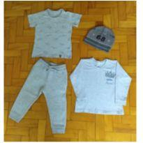 lote cinza style - 1 ano - Poim, Cherokee e Up Baby