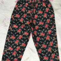 Calça veludo floral - 18 meses - Tilly Baby