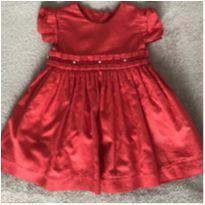 Vestido vermelho Tout-Petits - 3 a 6 meses - Tout Petits