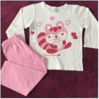 Pijama menina guaxinim - 24 a 36 meses - cara de sono