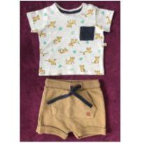 Conjunto camiseta e short bebê - 3 a 6 meses - Poim