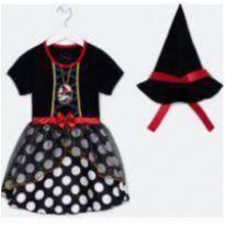 Vestido da Minnie fantasia de bruxinha - 24 a 36 meses - Disney