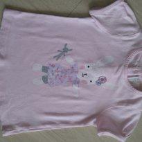 Camiseta Coelha Importada - 9 a 12 meses - H&M