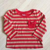Camiseta Fem. Listrada GAP - 12 a 18 meses - Baby Gap