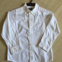 Camisa Masc. Sarja Branca Oshkosh - 7 anos - OshKosh