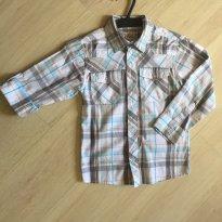 Camisa Manga Longa Xadrez Importada - 7 anos - Torque-USA