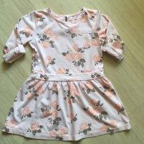 Vestido Rosa Floral Carters - 3 anos - Carter`s