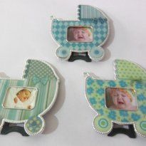 Porta Retrato Carrinho de Bebê Lembrancinha 9 pçs - Sem faixa etaria - Importada