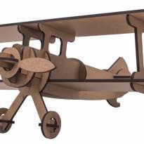 Quebra-cabeça MDF 3D Avião Pasiani -  - Não informada