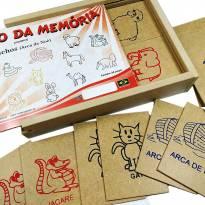 Jogo da Memória Madeira Com Estojo Arca de Noé - Sem faixa etaria - Artesanal