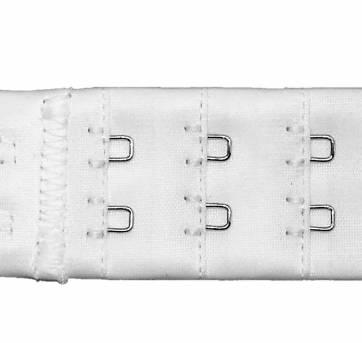 Kit 3 Extensor Fino Duplo Branco Para Sutiã Demillus 070083 - GG - 48 em diante - Demillus