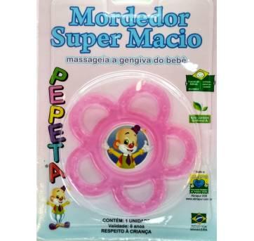 Kit Mordedor Chocalho Copo Talher Protetor Rosa Pepeta 5000 - Sem faixa etaria - pepeta