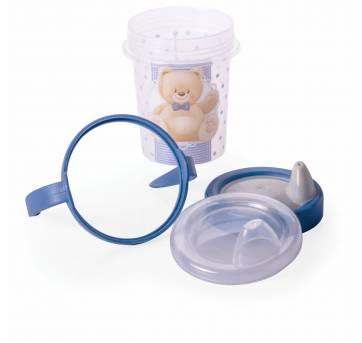 Copo Caneca Treinamento Urso Azul Plasutil 8451 - Sem faixa etaria - Plasútil