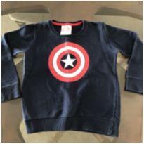 Moletom Capitão América - 4 anos - Avengers