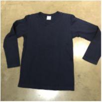 Blusa manga longa marinho - 8 anos - Malwee