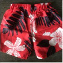 Boardshort Red - 6 a 9 meses - Hering Kids