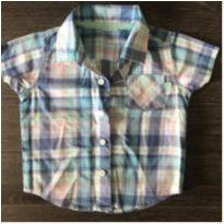 Camisa xadrez summer - 3 a 6 meses - Carter`s