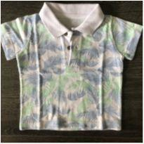 Camiseta polo folhagens - 3 a 6 meses - Teddy Boom
