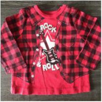 Camiseta Rock and Roll - 9 meses - Importada