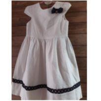 Vestido Branco Um Mais Um - 6 anos - Um mais um