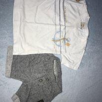 Conjunto blusinha e shorts - 3 a 6 meses - Ale Kids
