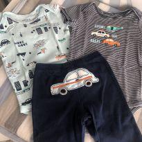 Conjunto bodies e calça carrinhos lindinho carter's!