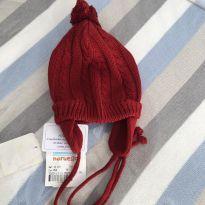 Touca tricot vermelha nunca usada! -  - Noruega Baby