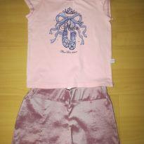 Conjunto de Blusa rosa e short lilás chique! - 8 anos - Turma da Malha