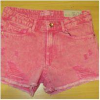 Short de brim rosa stone Zara NOVO - 11 anos - Zara