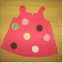 Blusinha rosa em tecido de algodão  Importada. - 8 anos - Gymboree