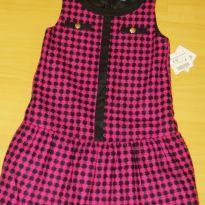 Vestido Zara - Novo - Rosa e preto. Importado - 9 anos - Zara