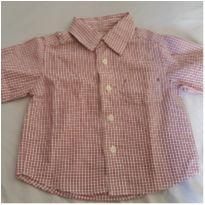 Camisa xadrez - 6 a 9 meses - Não informada