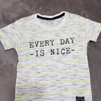 Camiseta branca mescla - 1 ano - YOYO KIDS