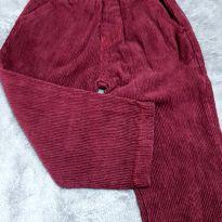 Calça veludão - 6 a 9 meses - Não informada