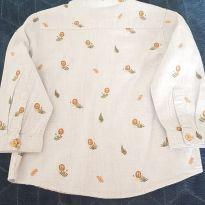 Camisa do leãozinho - 12 a 18 meses - Zara Baby