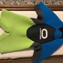 Roupa de Surfista - Short John - Infantil - Neoprene - Ozmosis - 2 anos - Não informada