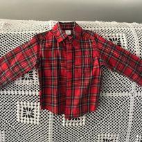 Camisa Social Xadrex Vermelha - Carters - 2 anos - Carter`s