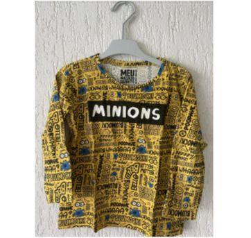 Camiseta infantil de manga longa - Minnions - 3 anos - Não informada