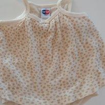 Vestido (body) oncinha - 6 a 9 meses - Tip Top