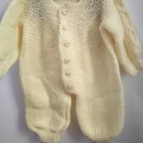 Macacão de lã (feito a mão) - Recém Nascido - Não informada