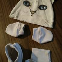 Kit gatinho ( touca / luva / pantufa ) -  - Não informada