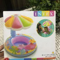 Baby bote com cobertura  inflável intex - Sem faixa etaria - Intex