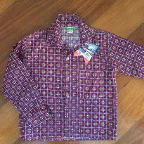 Camisa xadrez manga longa - 10 anos - gugudada