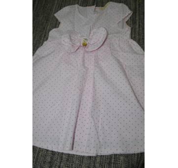 Vestido rosa poá - 2 anos - Arte Menor
