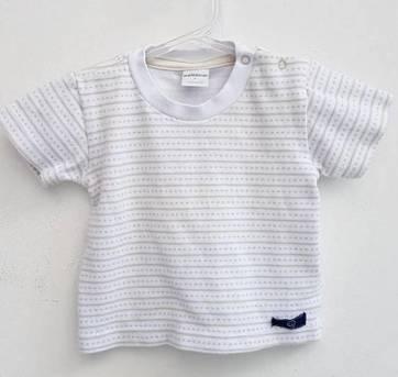 Camiseta Básica Listrada - 0 a 3 meses - Dedeka