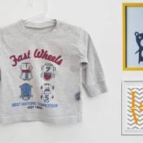 Camiseta manga comprida - 9 a 12 meses - Pbkids