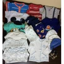 Lote 18 peças Bebê Menino RN a 3 meses - 0 a 3 meses - Carter`s e GAP