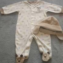 Macacão fleece Carter´s 6 meses - 6 meses - Carter`s