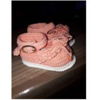 Sapato de crochê para bebê - 13 - Não informada